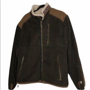 alf polartec double fleece lined zip jacket